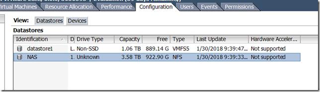 ESXi Datastore Configuration