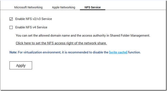 QNAP NFS Service
