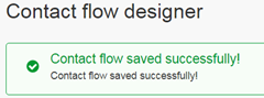Flow designer save message.