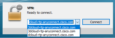 VPN Client With Multiple URLs Saved