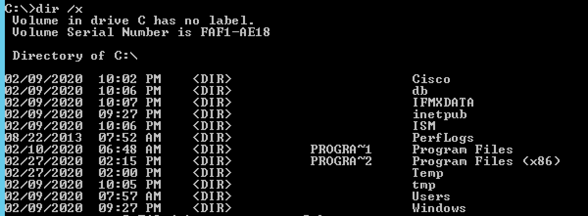 Command Prompt 8.3 File Naming Validation