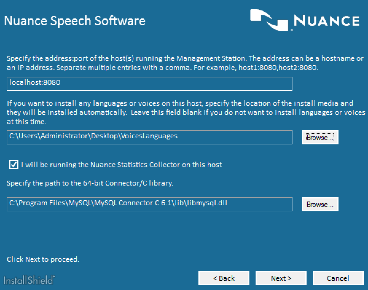 Nuance Speech Suite Final Configuration