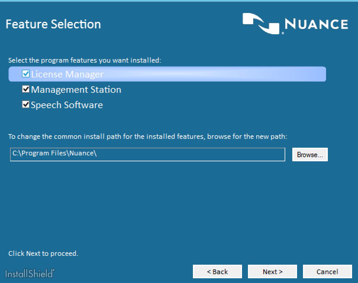 Nuance Speech Suite Features