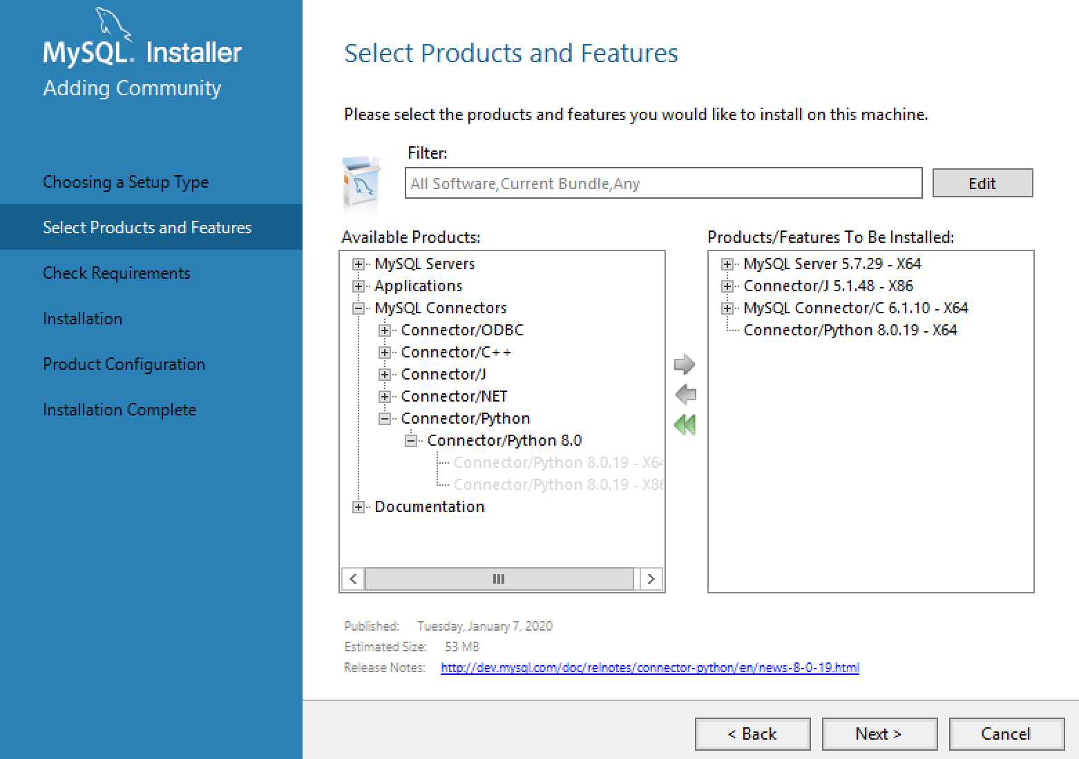 MySQL Installer Features