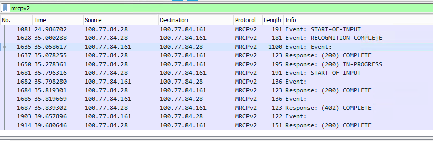Wireshark MRCPV2 Capture