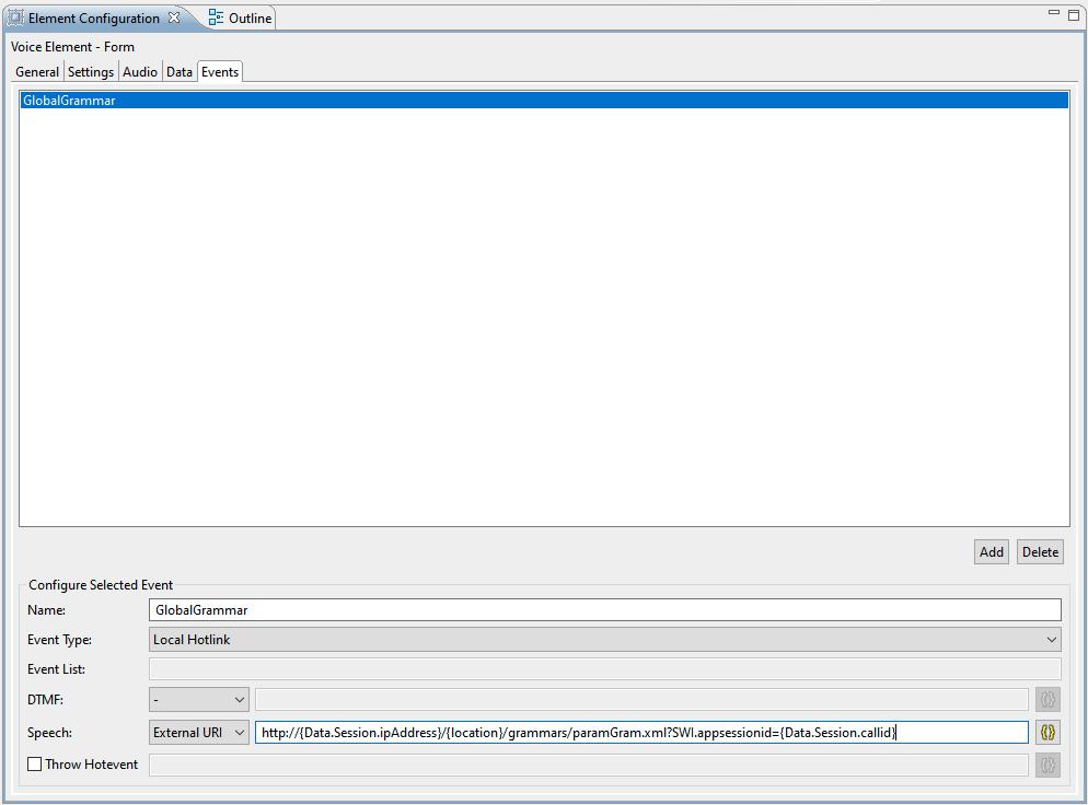 CVP Studio Audio Element Configuration