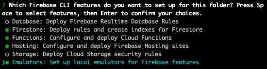 Firebase init cli